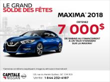 Obtenez le Nissan Maxima 2018 dès aujourd'hui! chez Capitale Nissan