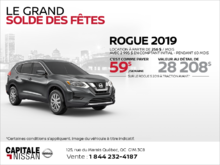 Obtenez le Rogue 2019 dès aujourd'hui! chez Capitale Nissan