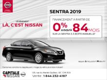 Obtenez la Nissan Sentra 2019 en rabais! chez Capitale Nissan