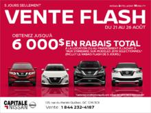Vente Flash chez Capitale Nissan