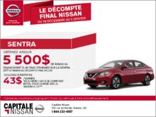 Nissan Sentra 2017 en location chez Capitale Nissan