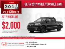 Save on the 2017 Ridgeline!