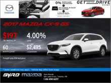 Drive Home the 2017 Mazda CX-9 GS Now!