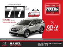 Louez la Honda CR-V 2018!