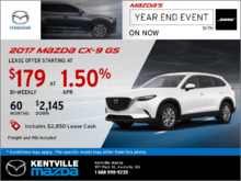 Save on the 2017 Mazda CX-9 GS Today