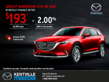 Get the 2017 Mazda CX-9 Today!