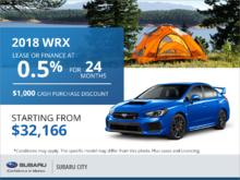 Get the 2018 Subaru WRX !