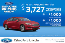 Save on the New 2017 Ford Fusion!