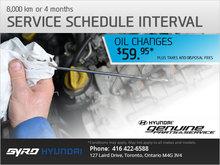 Service Schedule Interval