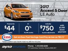 The 2017 Hyundai Accent 5-Door LE Auto in Toronto!