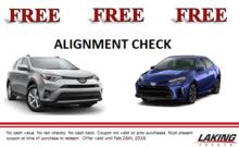 FREE alignment check!