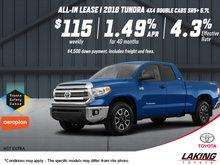 Get the 2018 Toyota Tundra!