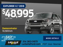 2018 Explorer XLT
