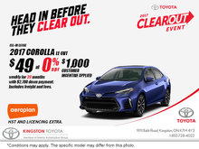 Get the 2017 Toyota Corolla Today!