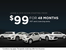 Lease a 2015 Scion from only $99 semi-monthly!