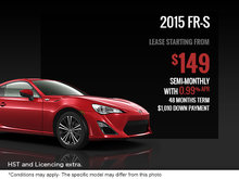 Get the new 2015 Scion FR-S today!