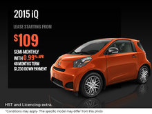 Get the all-new 2015 Scion iQ today!