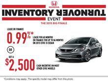 Honda's Inventory Turnover: 2015 Honda Civic