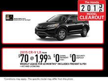 Honda 2015-2016 model clearout: 2015 Honda CR-V