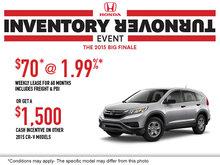 Honda's Inventory Turnover: 2015 Honda CR-V