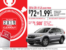 Save on the 2016 Honda CR-V Today!