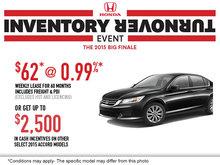 Honda's Inventory Turnover: 2015 Honda Accord