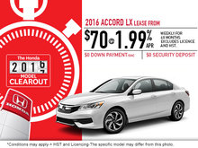 Save on the 2016 Honda Accord Today!