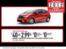 Honda 2015-2016 model clearout: 2015 Honda Fit