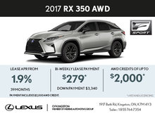 Lease the Brand-New 2017 RX Today!