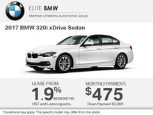 Get the 2017 BMW 320i xDrive Sedan Today!