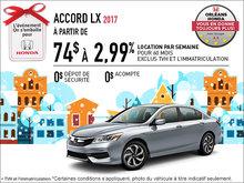 Économisez sur la Honda Accord LX 2017 dès aujourd'hui!