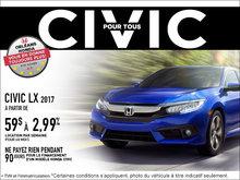 Économisez sur la Honda Civic LX 2017 dès aujourd'hui!