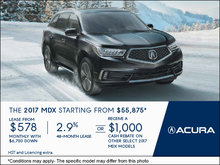 Drive Home the All-New 2017 Acura MDX Today!