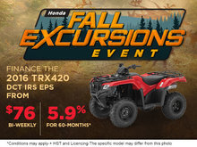 Finance the 2016 TRX420 Today!