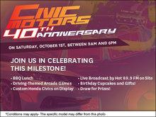 Civic Motors 40th Anniversary