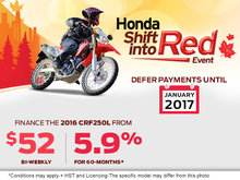 Honda's Shift Into Red Sales Event