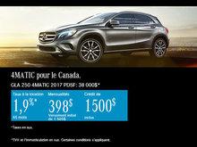 Mercedes-Benz GLA 250 4MATIC 2017 à Ottawa