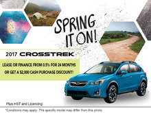 Lease the 2017 Subaru Crosstrek