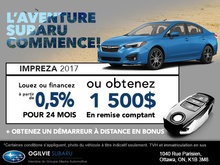 Obtenez la Subaru Impreza 2017