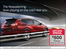 Save on Honda Vehicles During the Ottawa Auto Show