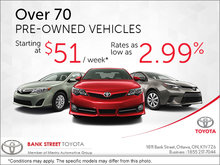 Save Big on Over 70 Pre-Owned Vehicles!