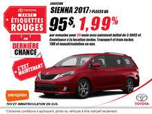 Obtenez La Toyota Sienna 2017 aujourd'hui!