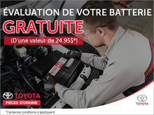 Évaluation de votre batterie gratuite