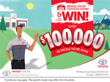 Bring Your Toyota Home and You Could Win!