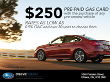 Buy A Pre-Owned Vehicle, Get a $250 Gas Card!