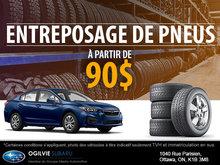 Entreposez vos pneus