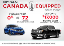 Nissan's Canada Equipped Sales Event!