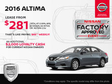 Get the 2016 Nissan Altima Today!