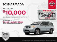 Get the 2015 Nissan Armada Today!