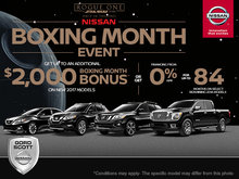Nissan's Boxing Month Sales Event!